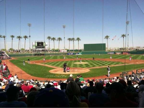 Goodyear Ballpark, vak: 114, rij: W, stoel: 3