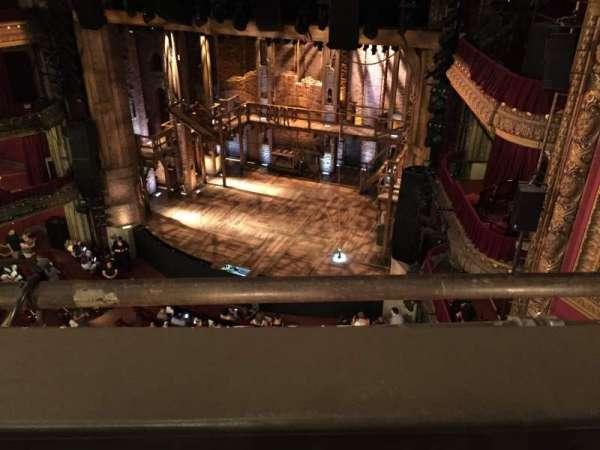 CIBC Theatre, vak: Balcony R, rij: 1, stoel: 4