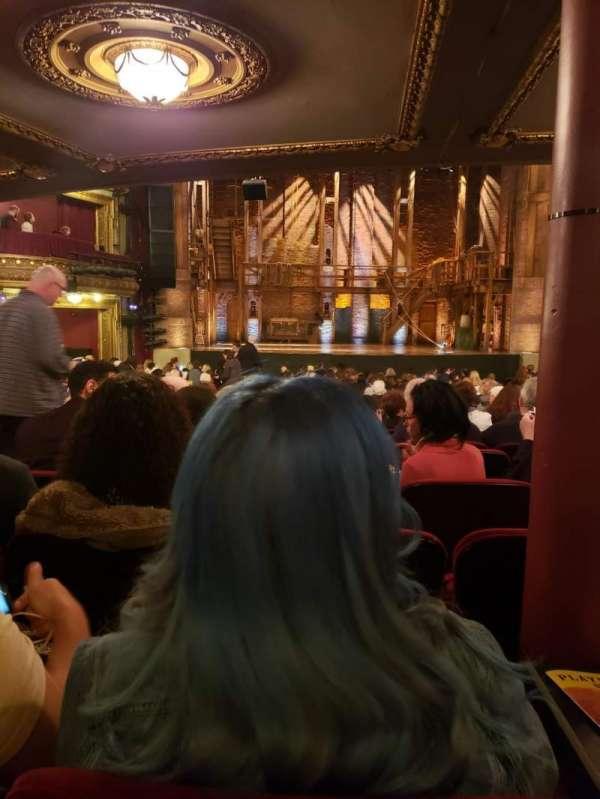 CIBC Theatre, vak: Orchestra C, rij: X, stoel: 107