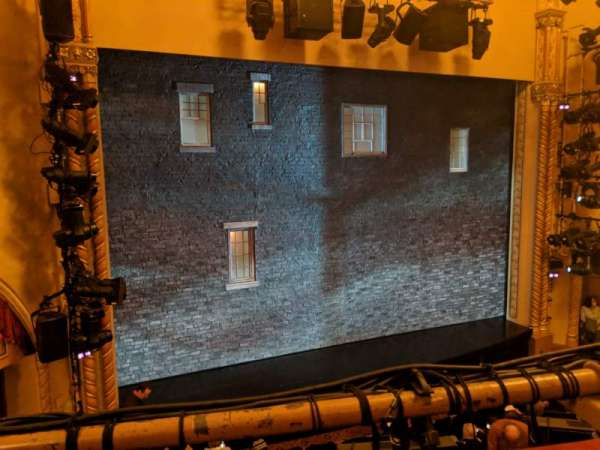 John Golden Theatre, vak: Left Mezz, rij: A, stoel: 119