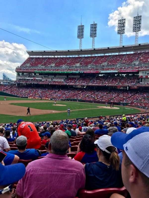 Great American Ball Park, vak: 113, rij: BB, stoel: 16