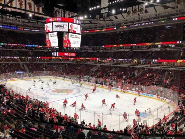 United Center, vak: 213, rij: 1, stoel: 6