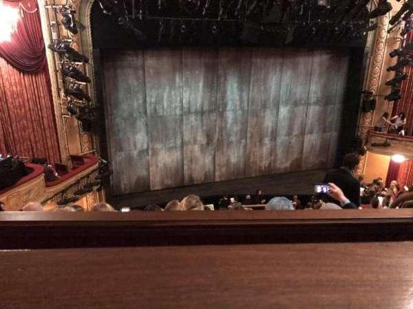 Bernard B. Jacobs Theatre, vak: Mezzanine, rij: E, stoel: 9