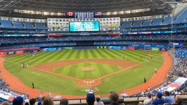 Rogers Centre, vak: 224BR, rij: 9, stoel: 7