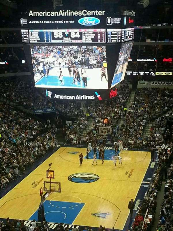 American Airlines Center, vak: 333, rij: A, stoel: 15