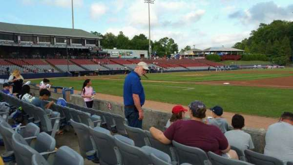Dodd Stadium, vak: 3, rij: A, stoel: 7