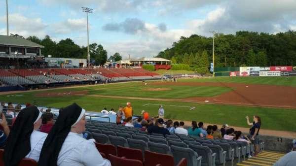 Dodd Stadium, vak: 3, rij: N, stoel: 22