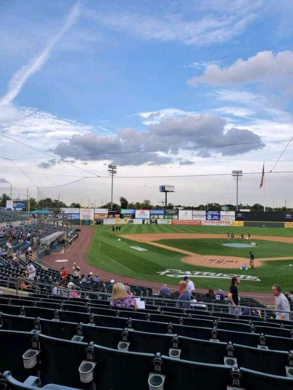 TD Bank Ballpark, vak: 201, rij: S, stoel: 6