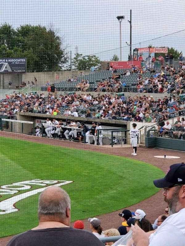 TD Bank Ballpark, vak: 206, rij: K, stoel: 10