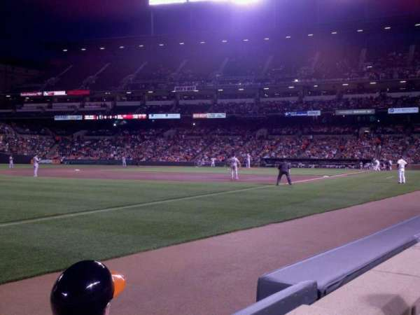 Oriole Park at Camden Yards, vak: 64, rij: 1, stoel: 1
