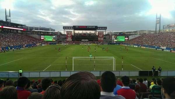 Toyota Stadium, vak: 116, rij: 14, stoel: 22