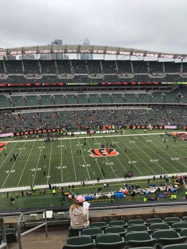 Paul Brown Stadium, vak: 311, rij: 7, stoel: 22