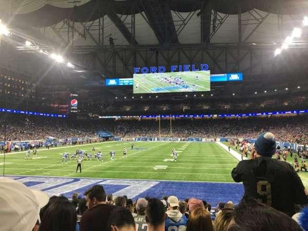 Ford Field, vak: 118, rij: 12, stoel: 11