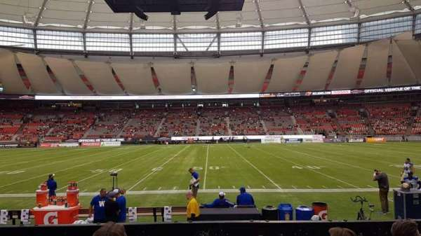BC Place, vak: 213, rij: D, stoel: 111