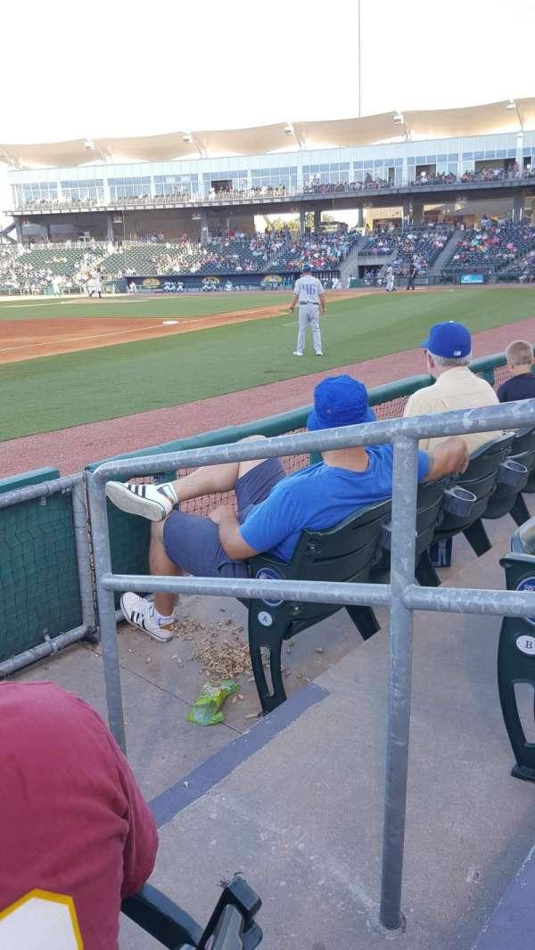 Arvest Ballpark, vak: 117, rij: 3, stoel: 1