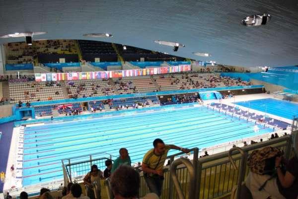 London Aquatics Centre, vak: 313, rij: 21, stoel: 162