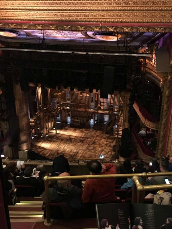 CIBC Theatre, vak: Balcony R, rij: K, stoel: 2