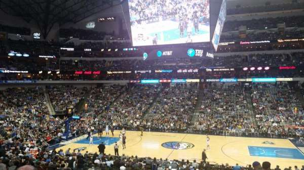 American Airlines Center, vak: 118, rij: Y, stoel: 6