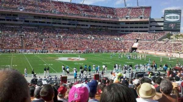 Raymond James Stadium, vak: 134, rij: Bb, stoel: 15