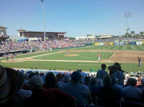BayCare Ballpark, vak: 105, rij: 14, stoel: 5