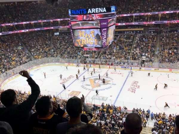 PPG Paints Arena, vak: 218, rij: D, stoel: 6