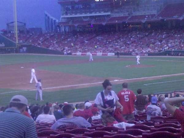 Great American Ball Park, vak: 114, rij: O, stoel: 5
