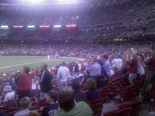 Great American Ball Park, vak: 113, rij: T, stoel: 12