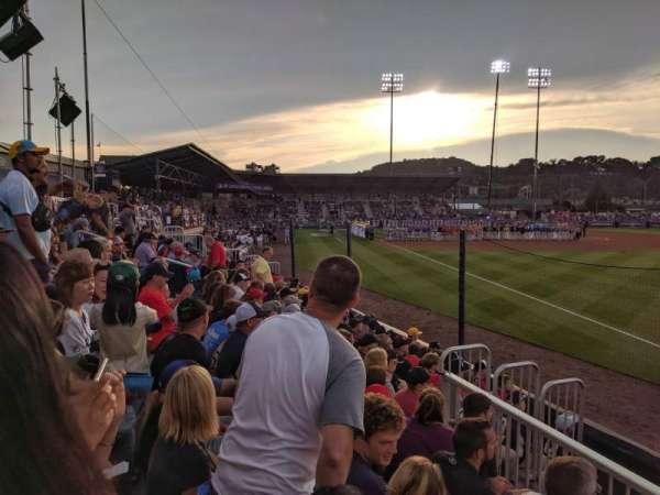 BB&T Ballpark at Historic Bowman Field, vak: 1, rij: 2, stoel: 1