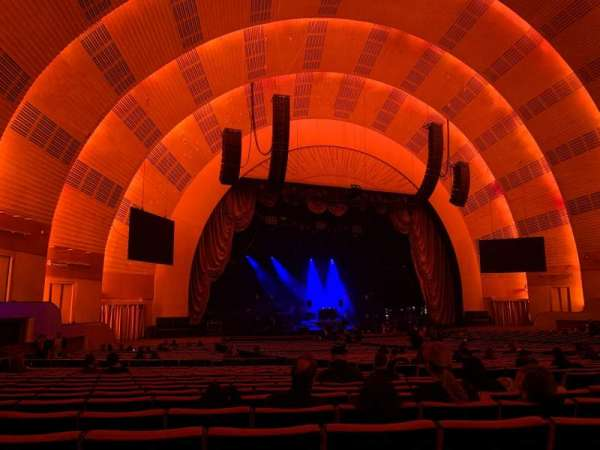 Radio City Music Hall, vak: Orchestra 6, rij: M, stoel: 612