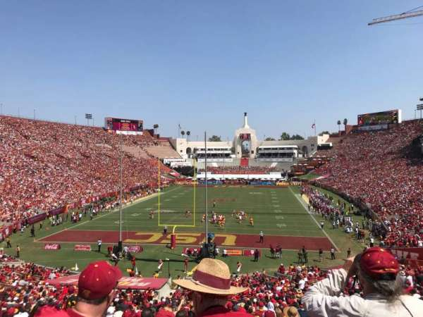 Los Angeles Memorial Coliseum, vak: 14H3, rij: 45, stoel: 104