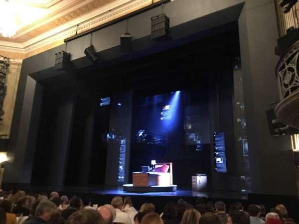 Music Box Theatre, vak: Orcho, rij: L, stoel: 16