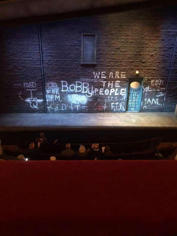 Bernard B. Jacobs Theatre, vak: Mezzanine, rij: A, stoel: 109
