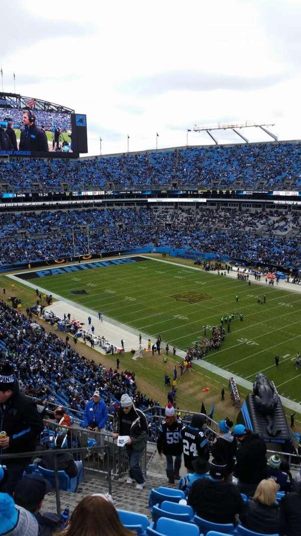 Bank of America Stadium, vak: 508, rij: 8, stoel: 16