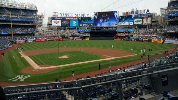 Yankee Stadium, vak: 218B, rij: 3, stoel: 6
