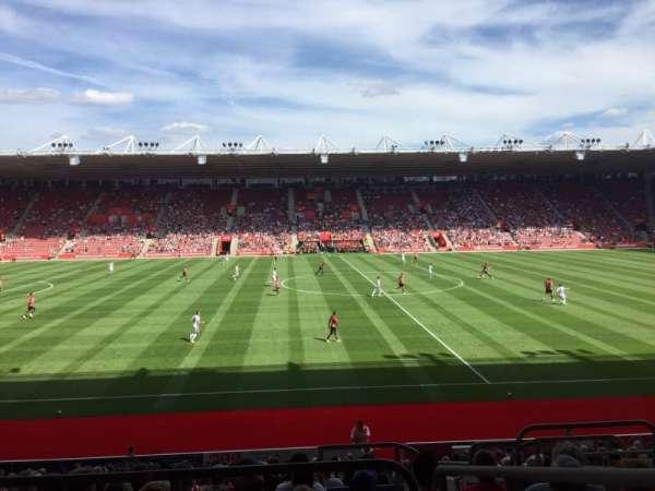 St Mary's Stadium, vak: 32, rij: W, stoel: 814