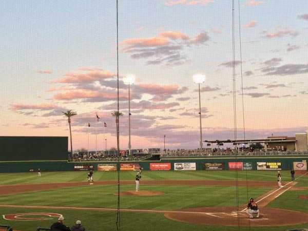 Goodyear Ballpark, vak: 110, rij: R, stoel: 1