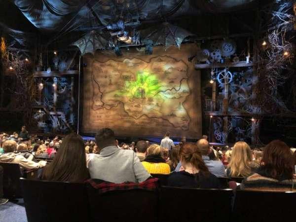 Gershwin Theatre, vak: Orchestra R, rij: Q, stoel: 8