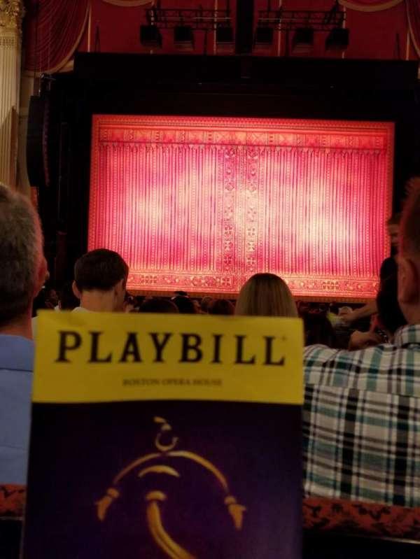 Boston Opera House, vak: Orcctr, rij: L, stoel: 110