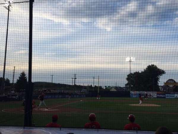 BB&T Ballpark at Historic Bowman Field, vak: D, rij: I, stoel: 4