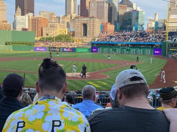 PNC Park, vak: 117, rij: K, stoel: 19