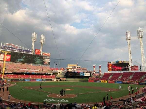 Great American Ball Park, vak: 124, rij: F, stoel: 13