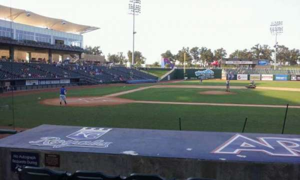 Arvest Ballpark, vak: 107, rij: i, stoel: 10
