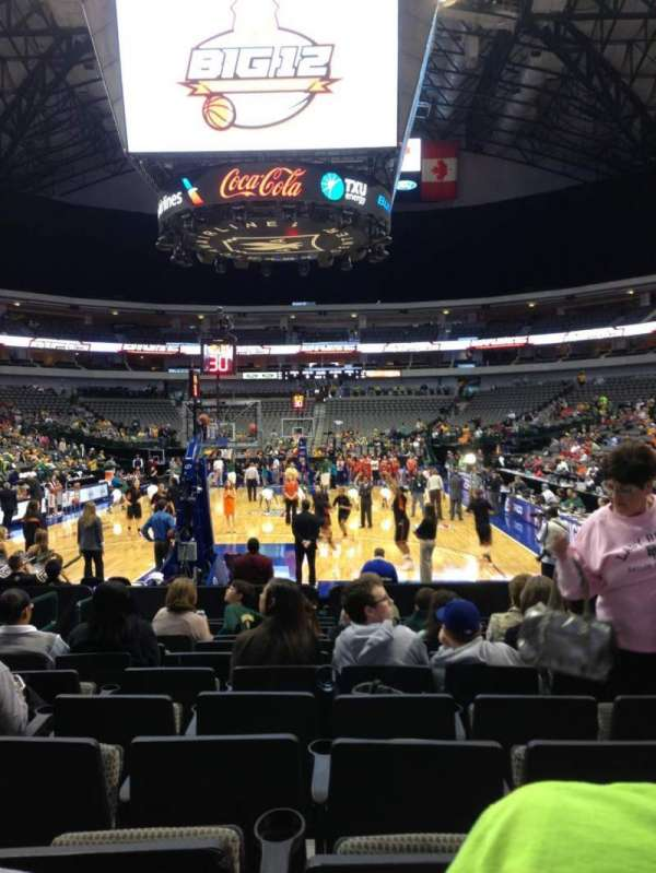 American Airlines Center, vak: 112, rij: B, stoel: 9