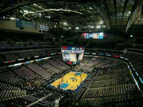 American Airlines Center, vak: 316, rij: j, stoel: 4