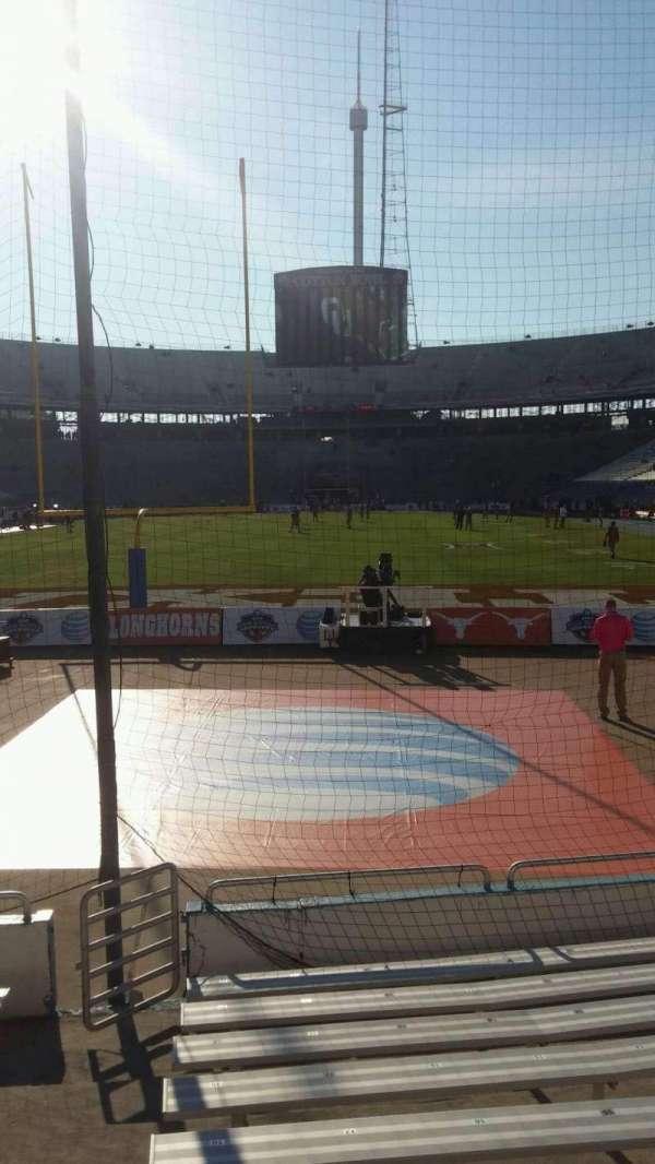 Cotton Bowl, vak: 14, rij: 11, stoel: 21