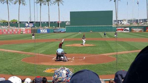 Goodyear Ballpark, vak: 112, rij: Q, stoel: 2