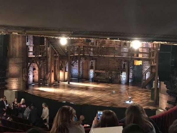 CIBC Theatre, vak: dress circle r, rij: e, stoel: 4