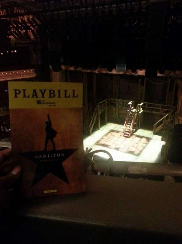 CIBC Theatre, vak: balcony r, rij: A, stoel: 4