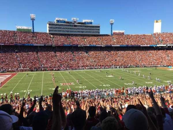 Cotton Bowl, vak: 26, rij: 47, stoel: 13