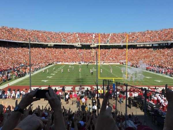 Cotton Bowl, vak: 34, rij: 29, stoel: 4